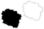 Kuyavian-Pomeranian Voivodeship map vector