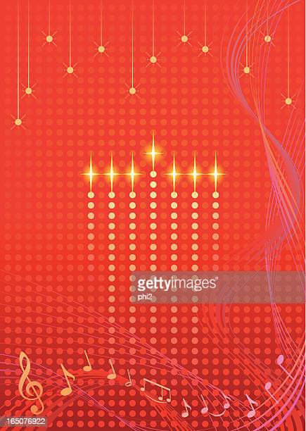 kwanzaa art with lighted candles vector - kwanzaa stock illustrations, clip art, cartoons, & icons