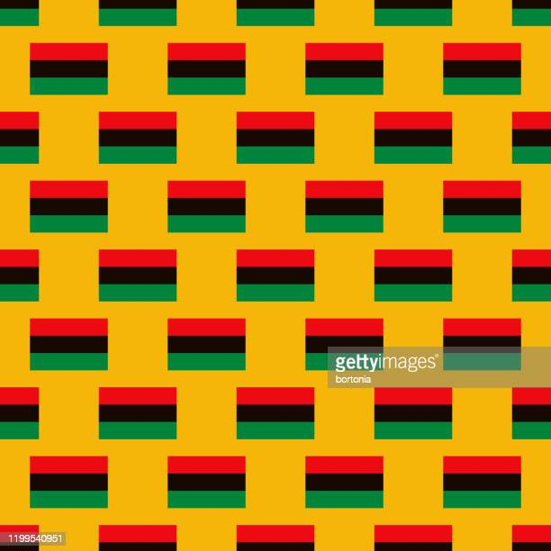 kwanzaa pan-african flag pattern - africa stock illustrations