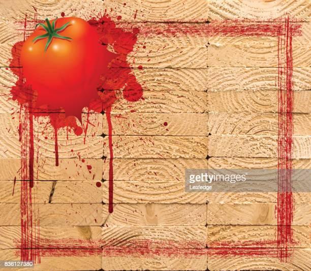 la tomatina background [board on a tomato] - splashing droplet stock illustrations, clip art, cartoons, & icons