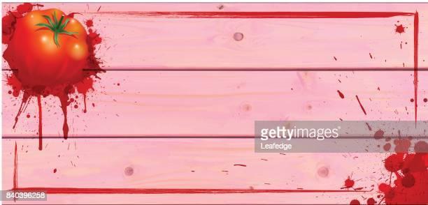 la tomatina background [board on the bursting a tomato] - splashing droplet stock illustrations, clip art, cartoons, & icons