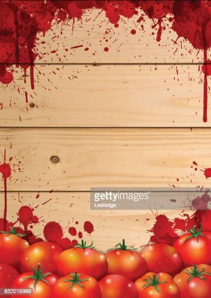 la tomatina background [board on the tomatos] - comunidad autonoma de valencia stock illustrations