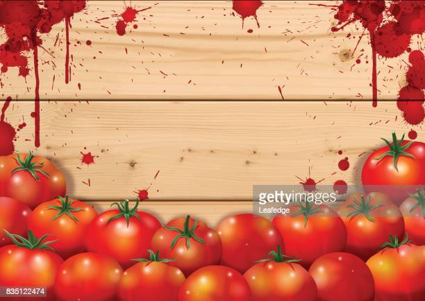 la tomatina background [board on the tomatos] - comunidad autonoma de valencia stock illustrations