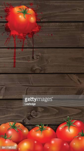 la tomatina background [board on the  tomatos] - splashing droplet stock illustrations, clip art, cartoons, & icons