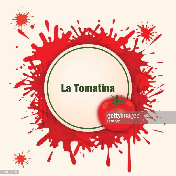 la tomatina background [bursting a tomato] - splashing droplet stock illustrations, clip art, cartoons, & icons