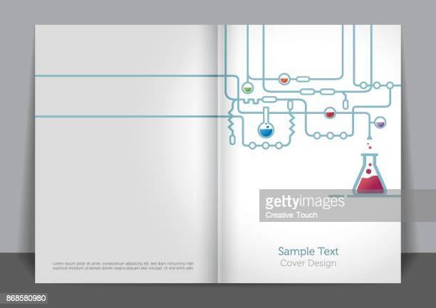 lab cover design - magical equipment stock illustrations, clip art, cartoons, & icons