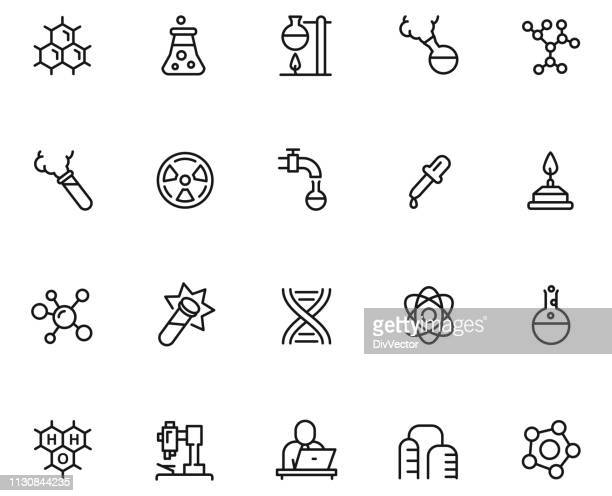 ラボアイコンセット - フラスコ点のイラスト素材/クリップアート素材/マンガ素材/アイコン素材