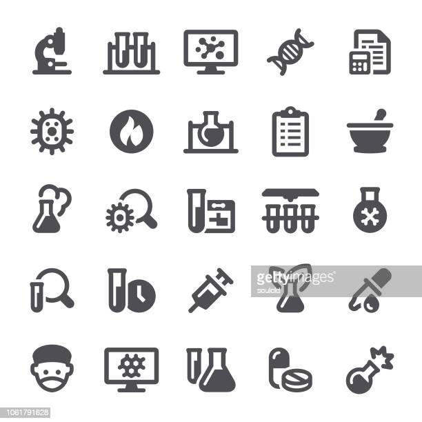 lab icons - mortar and pestle stock illustrations, clip art, cartoons, & icons