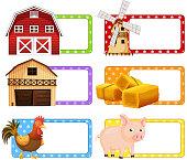 Label design with farm theme