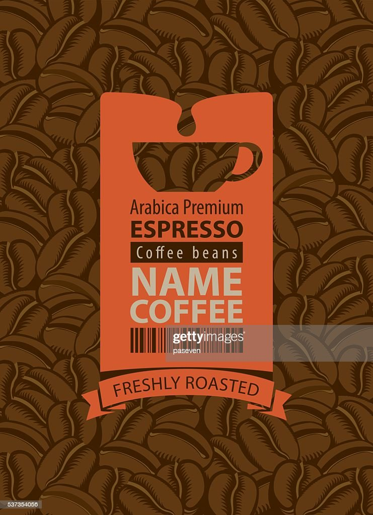 label for coffee beans