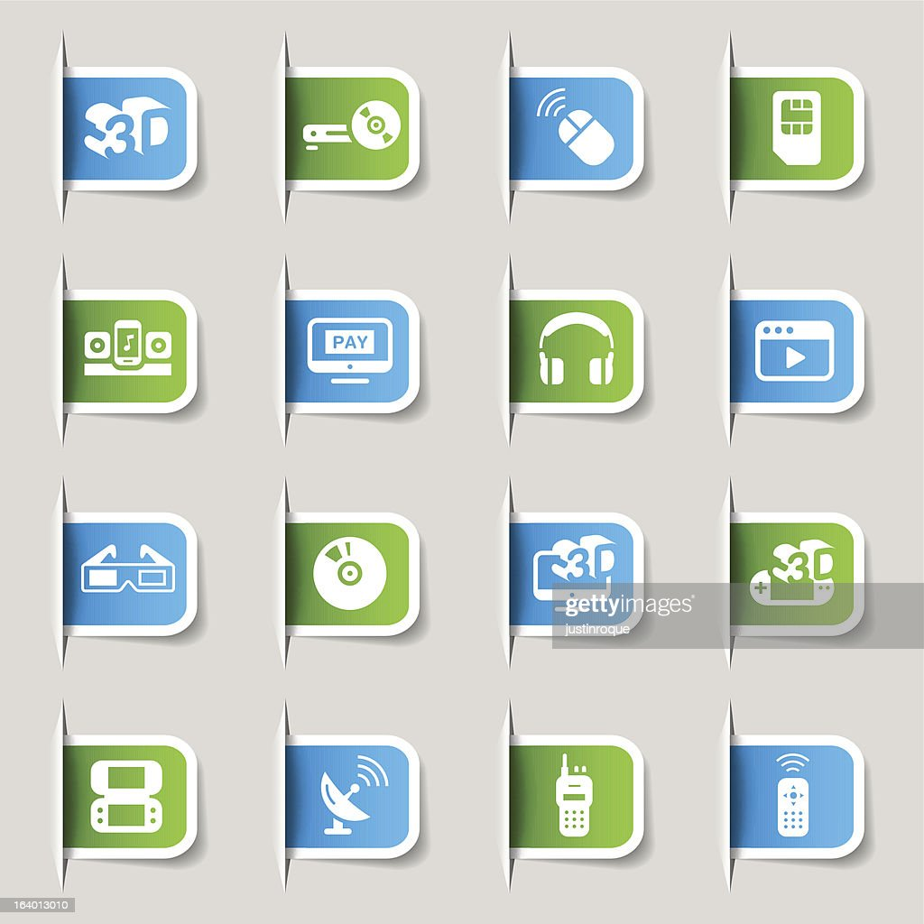 Label - Media and Technology Icons