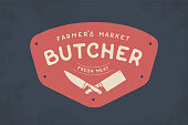 Label of Butcher meat shop