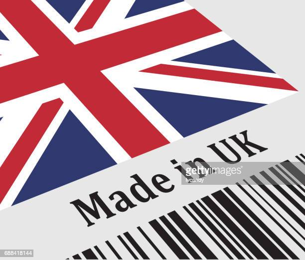 Label of Made in UK