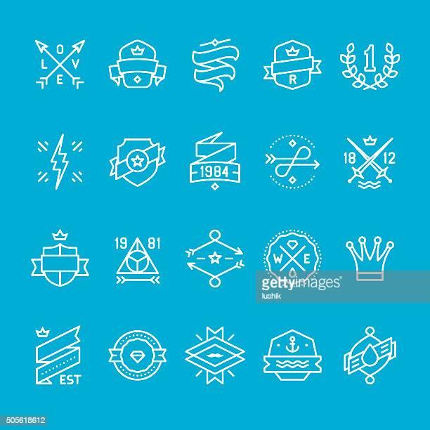 Labels und Banner icons-Kollektion