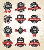 Labels and Ribbons Vector Design Elements