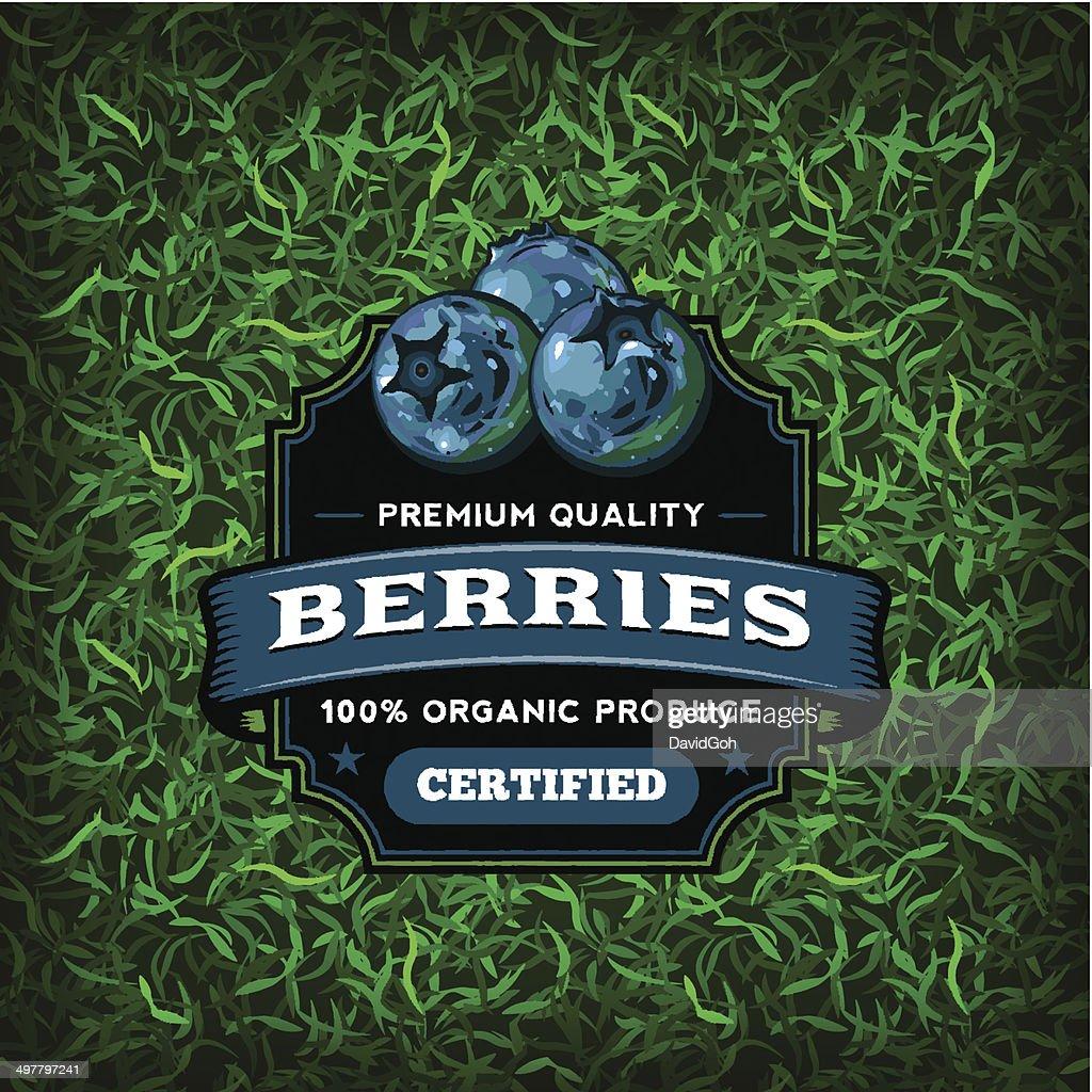 F&B Labels - Blueberries