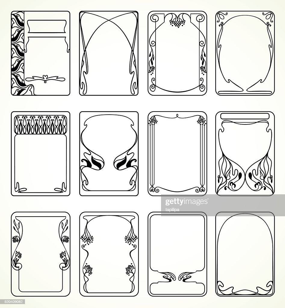 Labels in art nouveau