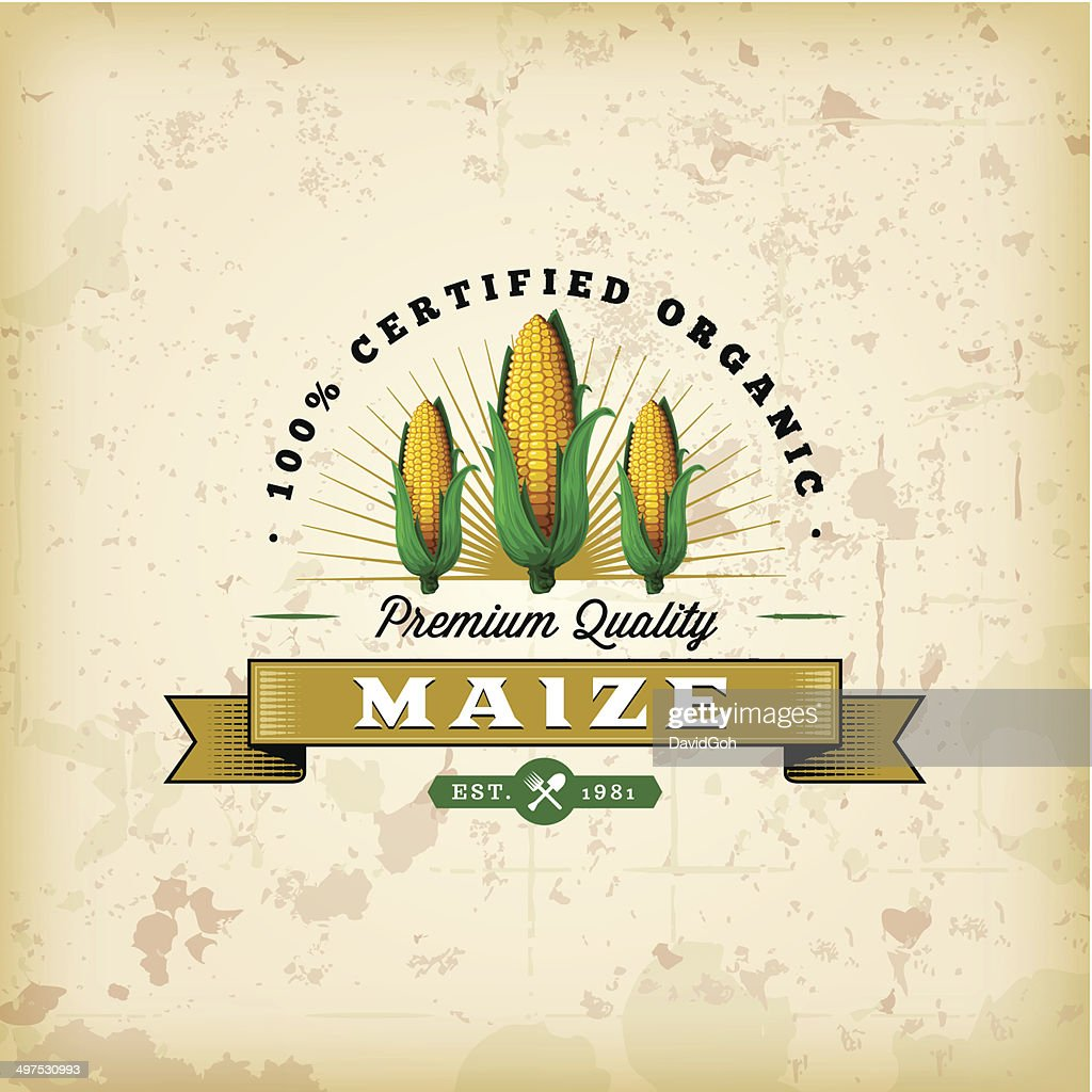 F&B Labels - Maize : stock illustration