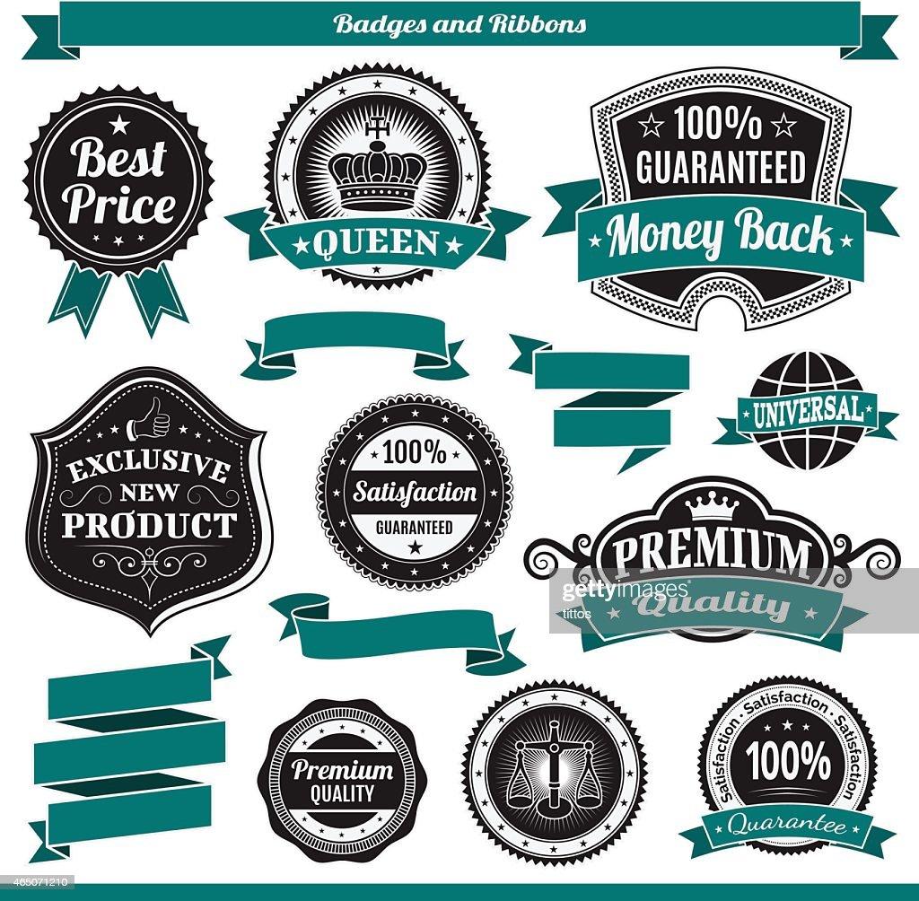 Labels ribbon set