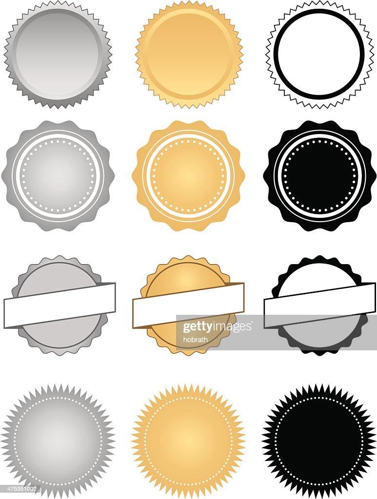 Labels, Seals, Badges and Wax Emblem Set
