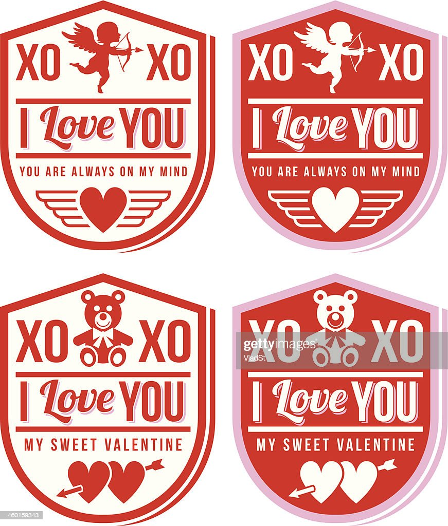 Labels - St. Valentine's Day : Vector Art