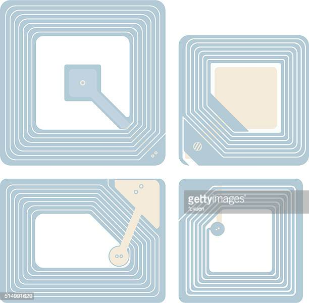 rfid labels - rfid stock illustrations, clip art, cartoons, & icons