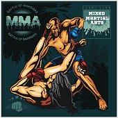 MMA Labels -  Vector Mixed Martial Arts Design