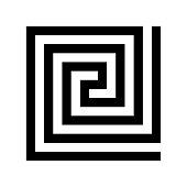 Labirinth greek symbol. Greek key. Typical egyptian, assyrian and greek motives vector symbol