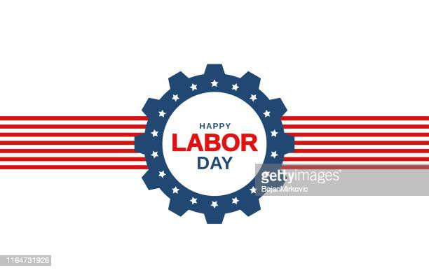 labor day banner on white background. vector - labour day stock illustrations
