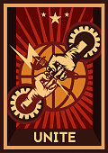 labor day, constructivism style, independence poster