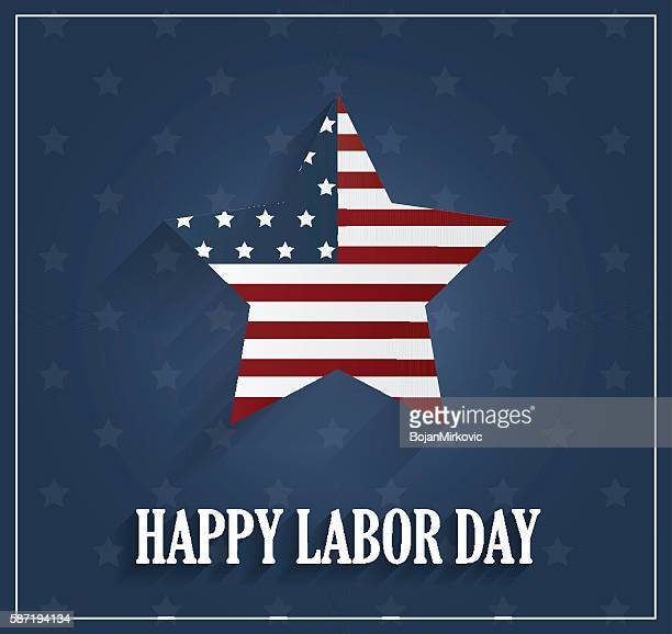 labor day poster on blue background - labour day stock illustrations