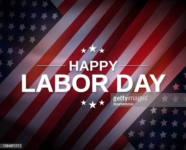 labor day poster. vector - labour day stock illustrations