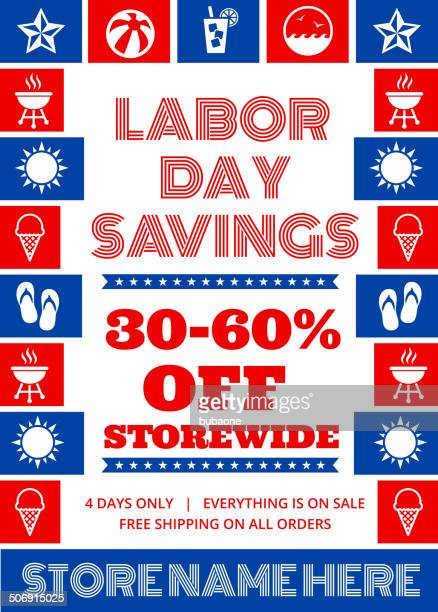 Labor Day Sale Banner US royalty free vector art