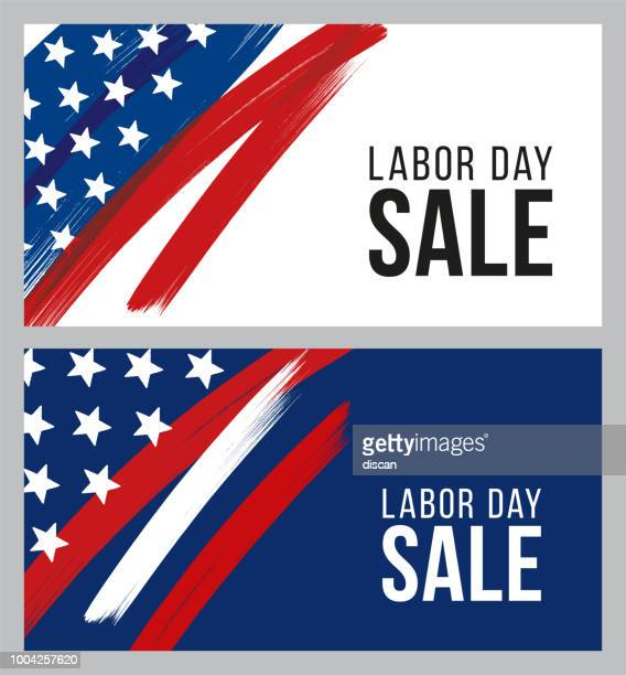 labor day sale design for advertising, banners, leaflets and flyers - sale stock illustrations