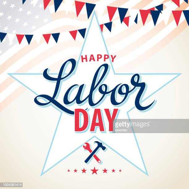 usa labor day - labour day stock illustrations
