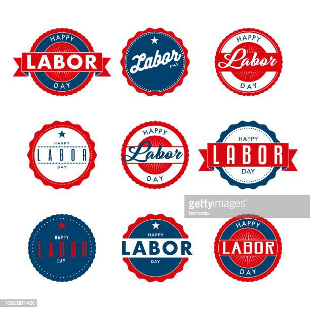 labor day (us spelling) - labour day stock illustrations