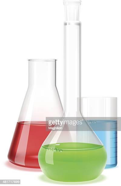 laboratory flask - potion stock illustrations