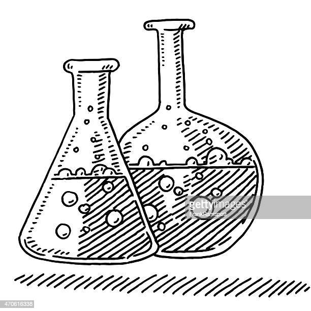Laboratory Flasks Chemistry Symbol Drawing