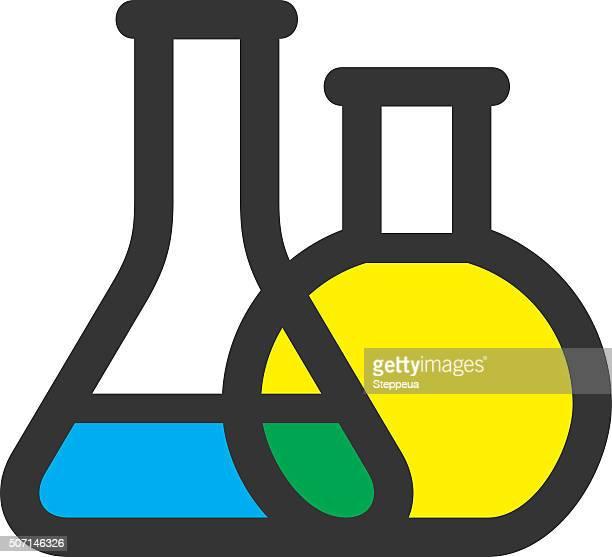 ilustraciones, imágenes clip art, dibujos animados e iconos de stock de vaso de laboratorio - material de vidrio de laboratorio