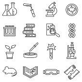 Laboratory icons set.