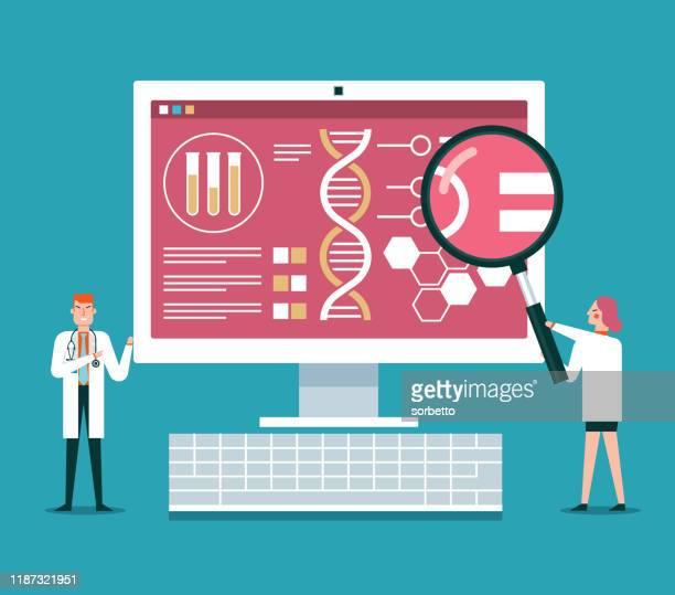 実験室の医学診断の概念 - 医療診断機器点のイラスト素材/クリップアート素材/マンガ素材/アイコン素材