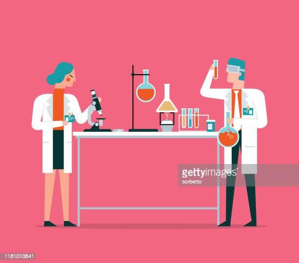 laboratory - scientist stock illustrations