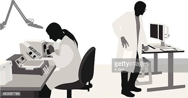 laborious - scientist stock illustrations