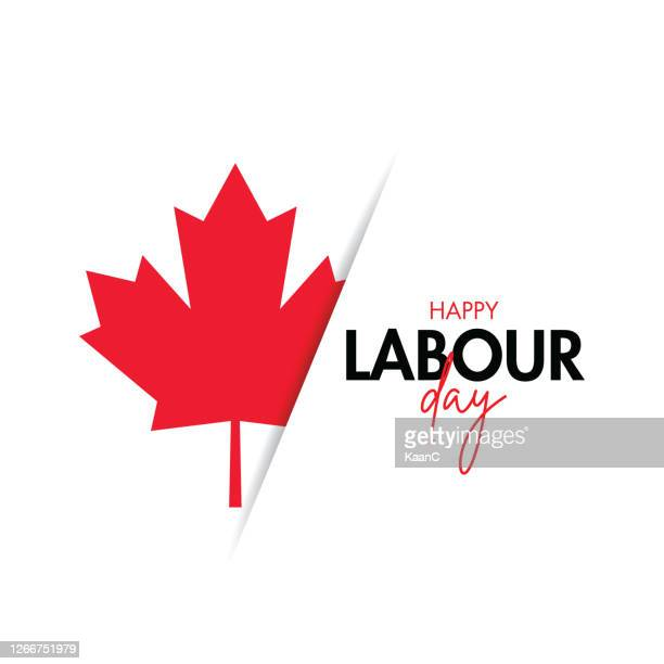 labour day poster. happy labour day. canada happy labour day vector illustration stock illustration - national landmark stock illustrations