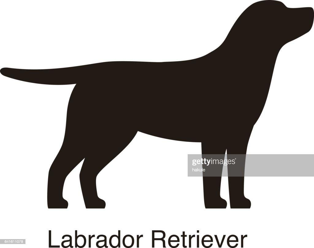 Labrador Retriever Dog Silhouette Side View Vector High Res