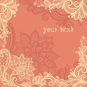 Lace background with a place for text.