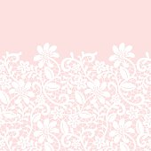 lace border isolated on pink background
