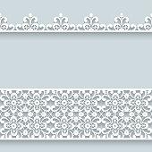 Lace border ornaments