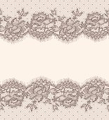 Lace card. Horizontal Seamless Pattern.