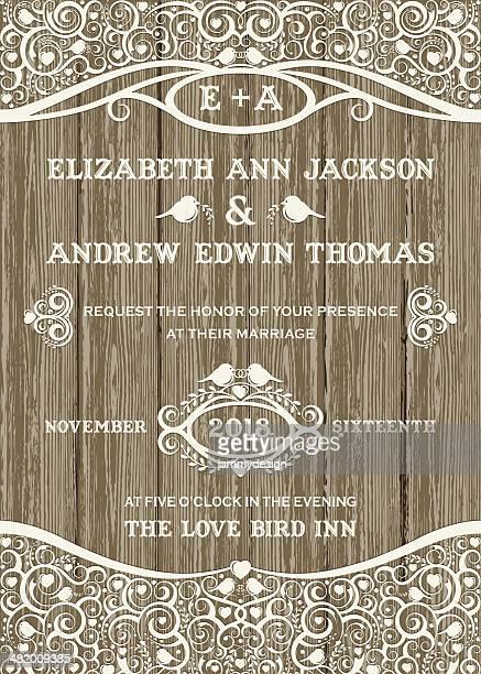 lace celebration invitation - rustic stock illustrations